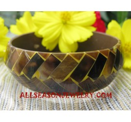 Seashells Bangle Resin