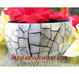 Seashells Resin Bangle