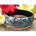 Shells Bangle Resin