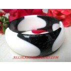 Black Resin Bangle