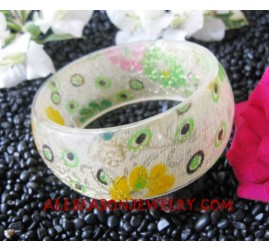 Bangle Resin Flower