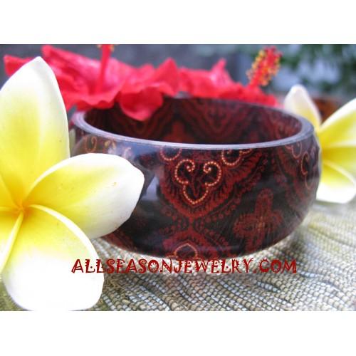 Bangles Resin Batik Natural