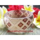 Fashion Batik Bangle Resin