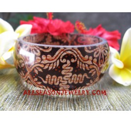 Fashion Resin Bangle Batik
