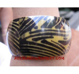 Girl Resin Bangle Zebra