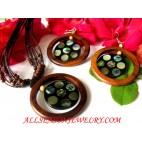Paua Shell Jewelry Set