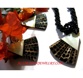 Tiger Shell Jewelry Set