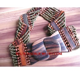 Wooden Bead Belts