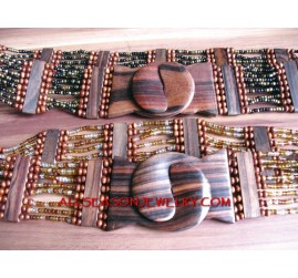 Casual Wooden Bead Belt