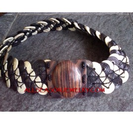 Seed Wood Bead Buckle Belt