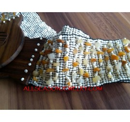 Bead Belt Wooden Clasps