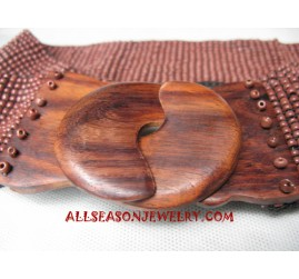 Beaded Wooden Belt