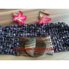 Women Bead Stretch Belts