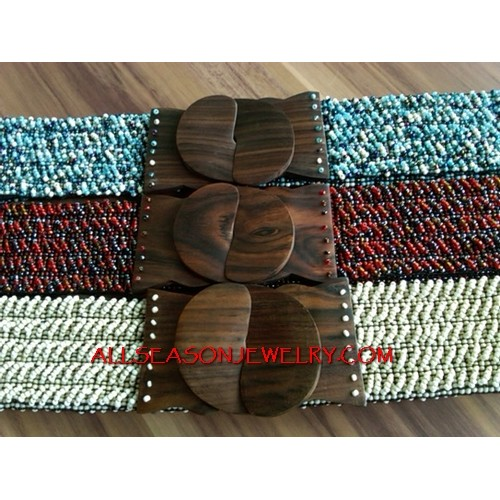 Handmade Wood Clasps Belt