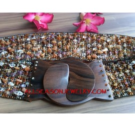 Beading Belt Wood Clasps