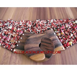 Women Beads Buckle Belts