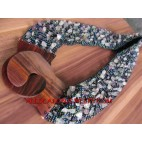Wooden Bead Stone Belts
