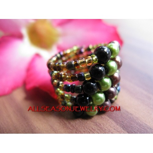 Bead Ring Cuff Fashion