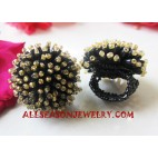 Beaded Finger Ring