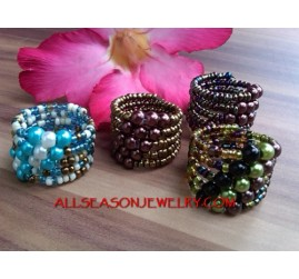 Lady Fashion Ring Beads
