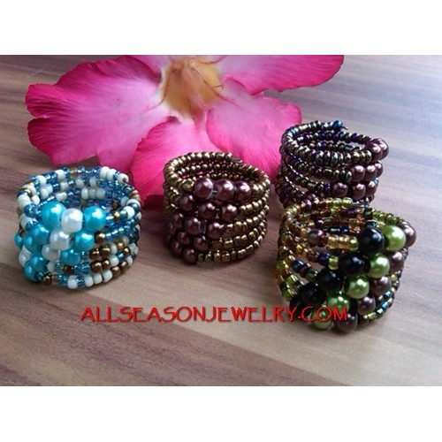 Lady Fashion Ring Beads