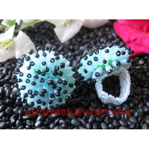 Finger Ring Beaded