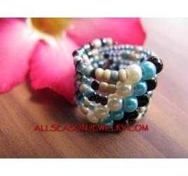 Rings Cuff Beads Multi