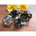 Beads Shells Ring Stretch Women Fashion Accessories
