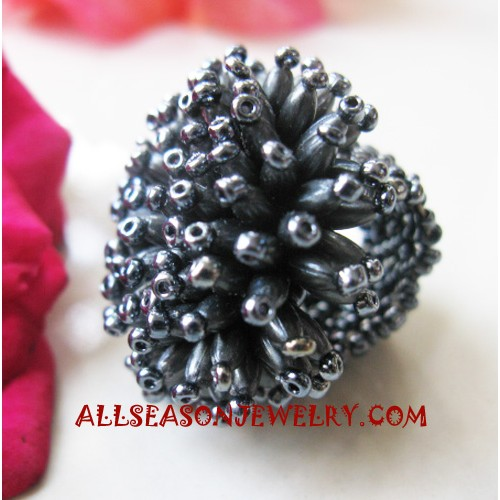 Silver Beads Rings