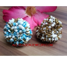 Beads Flower Ring Design