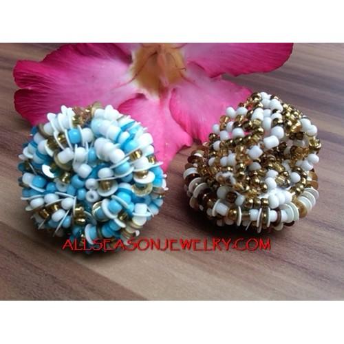 Beads Flower Ring Design
