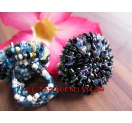Beaded Finger Ring Flower