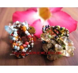 Bali Beads Stone Ring