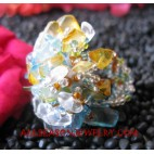 Bead Glass Stone Rings Stretch