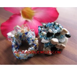 Bead Rings Stone Fashion
