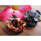 Woman Beads Ring Stone