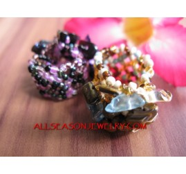 Fashion Bead Stone Rings