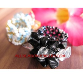Finger Rings Stone Beads