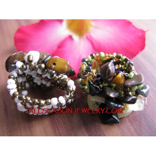 Stretch Ring Beads Stone