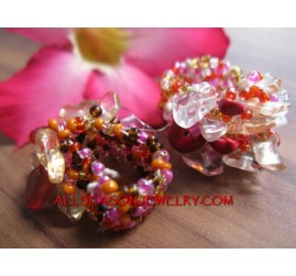 Bali Stone Beads Rings