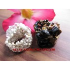 Fashion Stone Bead Rings