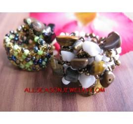 Streching Beads Stone Rings