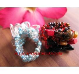Stone Bead Ring Bali