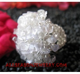 Stone Glass Finer Rings Sequins