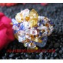 Stones Beads Crystal Ring