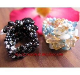 Stretching Bead Finger Ring