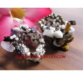 Beads Ring Stone Jewelry