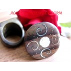 Accessories Women Wooden Finger Rings Hand Carving