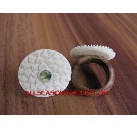 Ethnic Bone Carving Rings