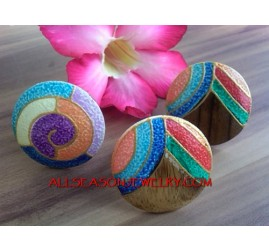 Fashion Handmade Wooden Ring Hand Painted